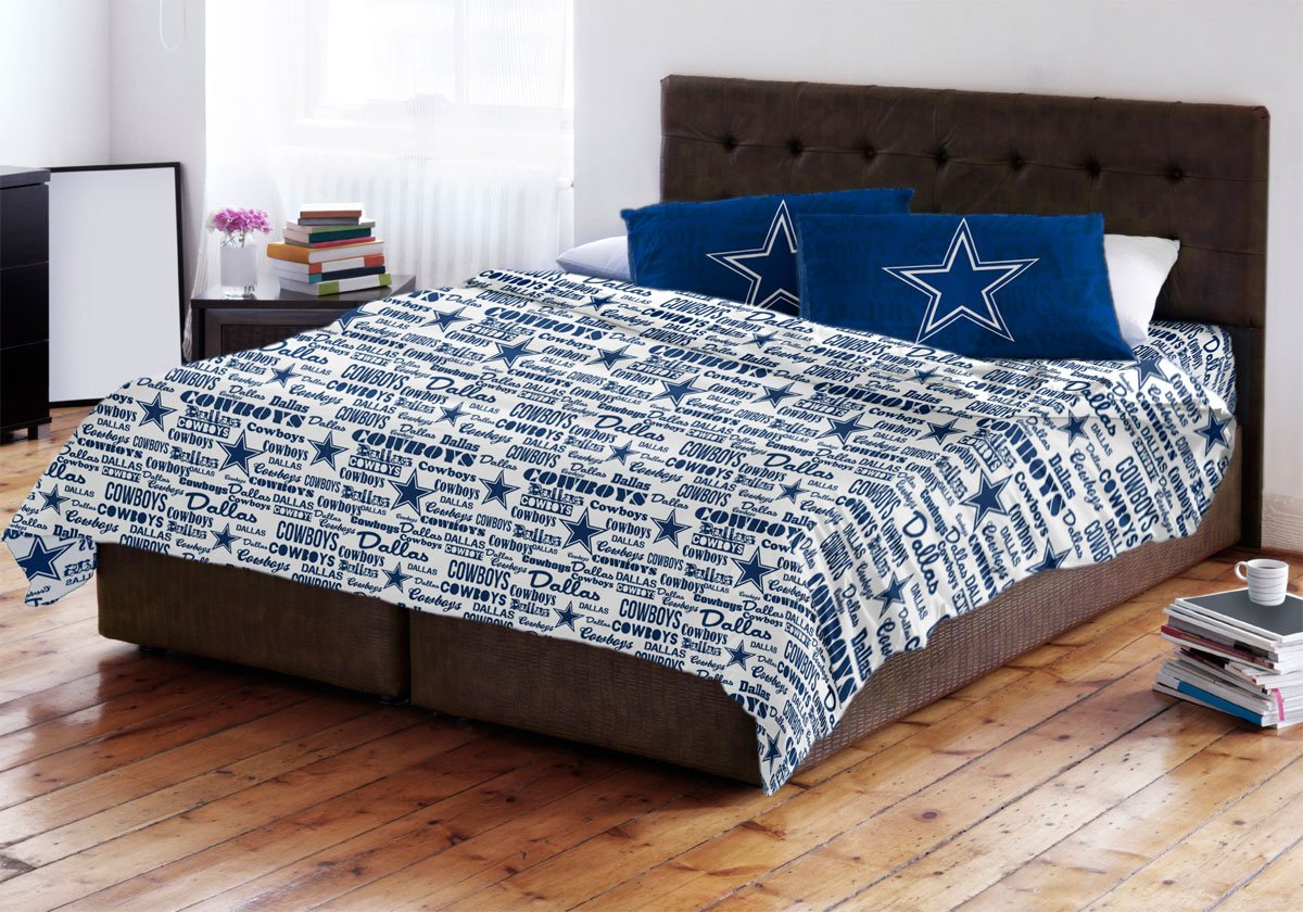 Amazon.com: NFL Dallas Cowboys Sheet Set Football Anthem Sheets Full Bed:  Home U0026 Kitchen