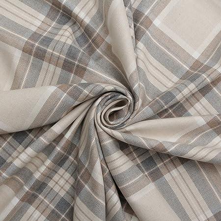 Natural 100% Cotton Tartan Check Pastel Plaid Faux Wool Sofa Curtain  Upholstery Fabric 600dcd48019