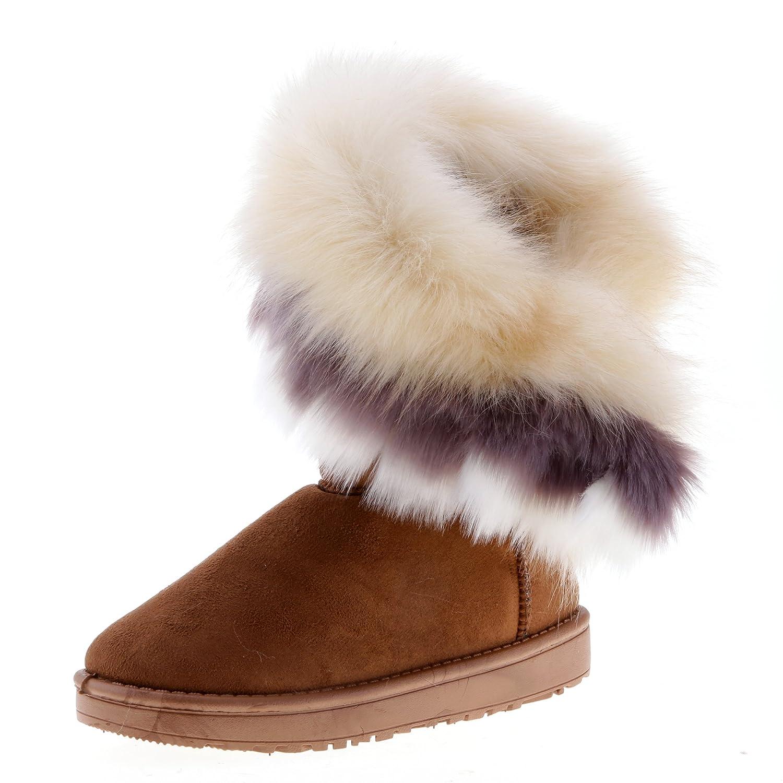 Hee Imitation Femme Neige Fourrure Bottes Grand Chaussures Renard De 4A35LjR