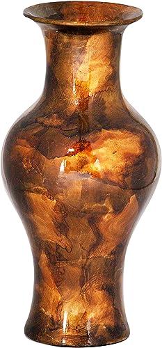 Heather Ann Creations Kate Ceramic Decorative Amphora Vase, Copper Bronze