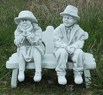 Oma Und Opa Auf Der Bank Weiß Mit Schattierungen A234