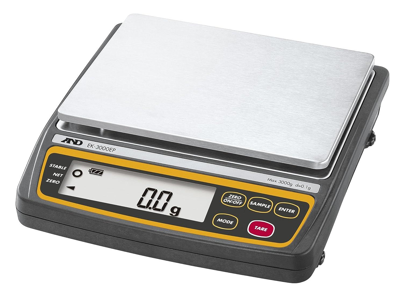 A&D 本質安全防爆構造 パーソナル電子天びん EK-3000EP ひょう量:3000g 最小表示:0.1g 皿寸法:170(W)*133(D)mm 一般校正付 B073VH346V 本体 + 一般校正付