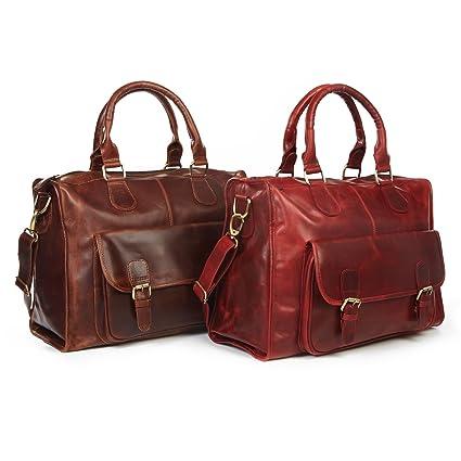 Nomad Sac fourre-tout de voyage en cuir Rouge Antique Red holdall eKvBRFgO0z
