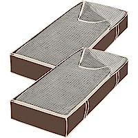 Whitmor Estantes Colgantes para Zapatos y Accesorios, marrón, Bolsas Jumbo Debajo de la Cama S/2, Java, Jumbo, 1
