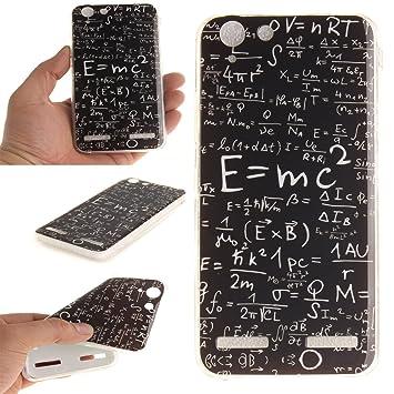 Qiaogle Teléfono Caso - Funda de TPU silicona Carcasa Case Cover para Lenovo K5 / K5 Plus / Lemon 3 / A6020 (5.0 Pulgadas) - TX09 / Mathematical ...