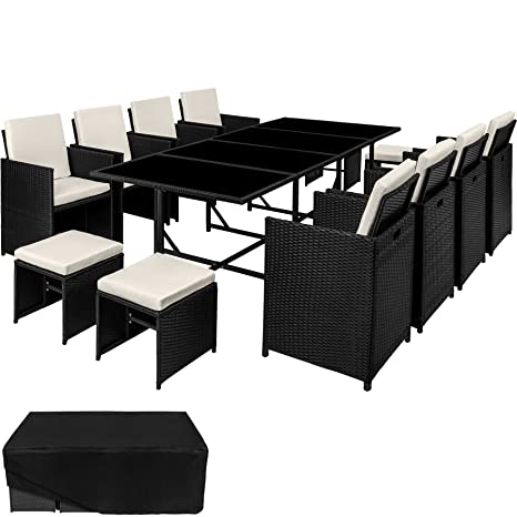 TecTake Conjunto muebles de jardín en ratán sintético ...