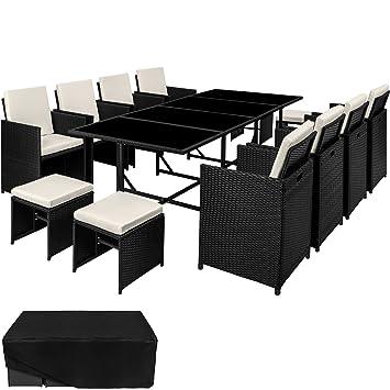 tectake ensemble salon de jardin en rsine tresse poly rotin table set 81 - Ensemble Salon De Jardin