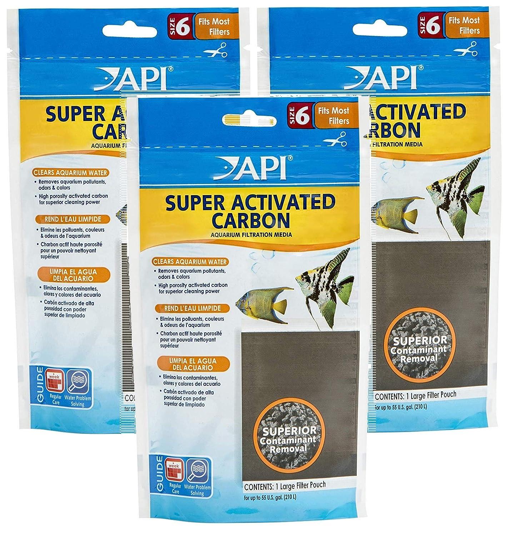 Amazon.com : API Super Activated Carbon Aquarium Canister Filter (3 Pack) : Pet Supplies