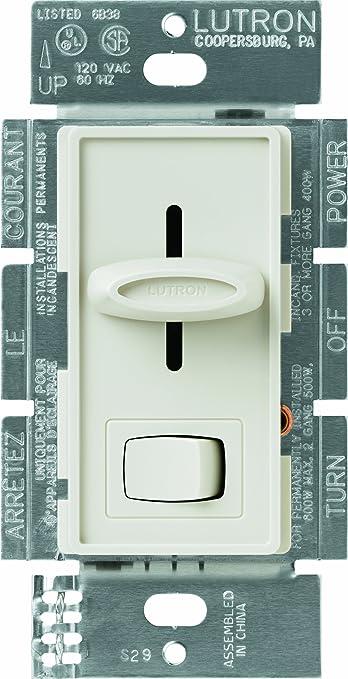 Lutron S-603PNL-LA Skylark 600-Watt 3-Way Dimmer with Locator Light, Light  Almond - Wall Dimmer Switches - Amazon.comAmazon.com