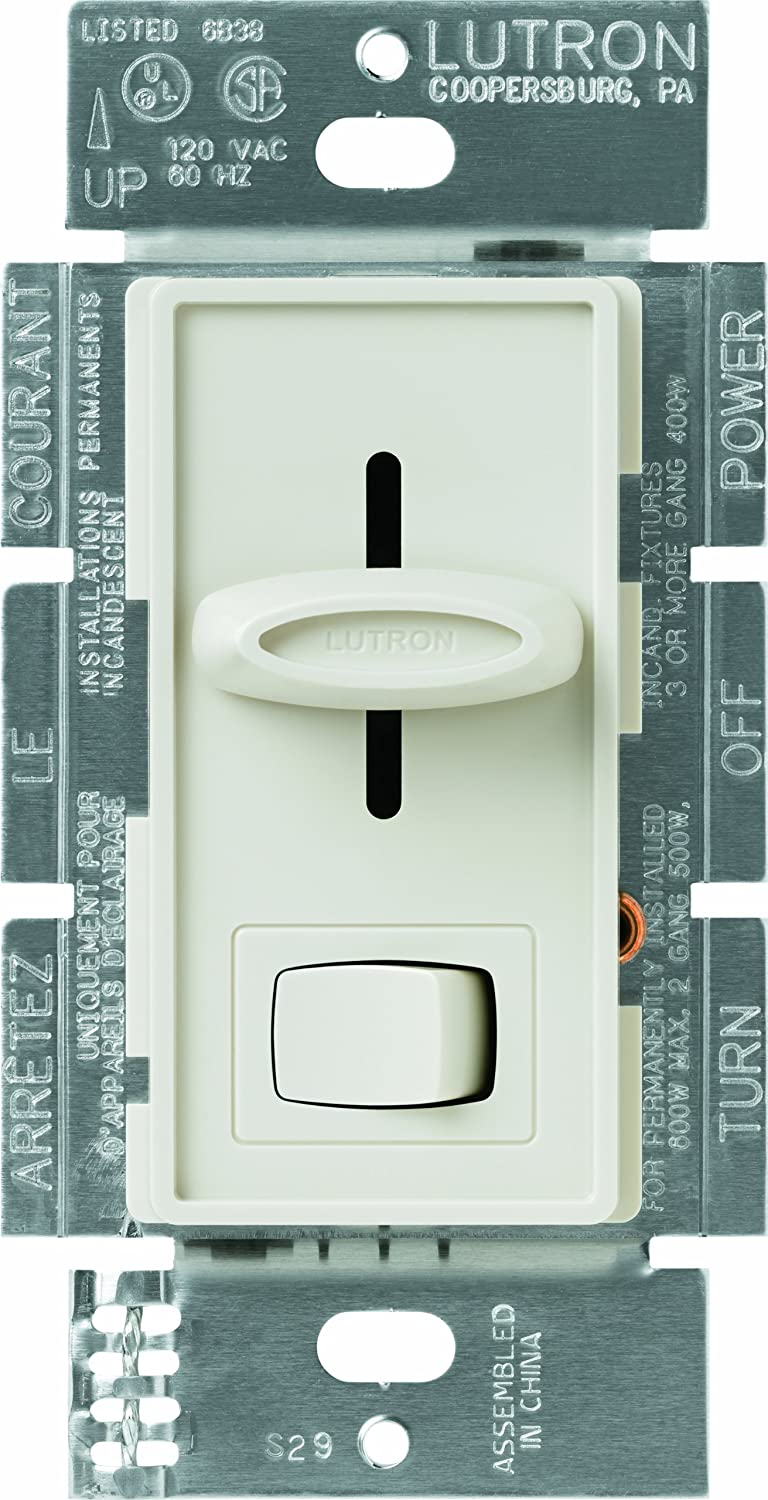 Lutron Sfsq Lf La Skylark 15 Amp Single Pole 3 Speed Slide To Off Dimmer Fan Light Wiring Diagram And Control Almond Ceiling Wall Controls