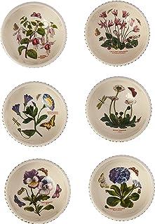 Portmeirion Botanic Garden Inidual Fruit Salad Bowls Set of 6 Assorted Motifs & Amazon.com | Portmeirion Botanic Garden Dinner Plates Set of 6 ...