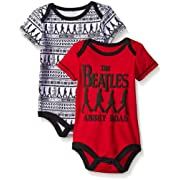 The Beatles Baby Boys' Value Pack Bodysuits, Red, 18 Months