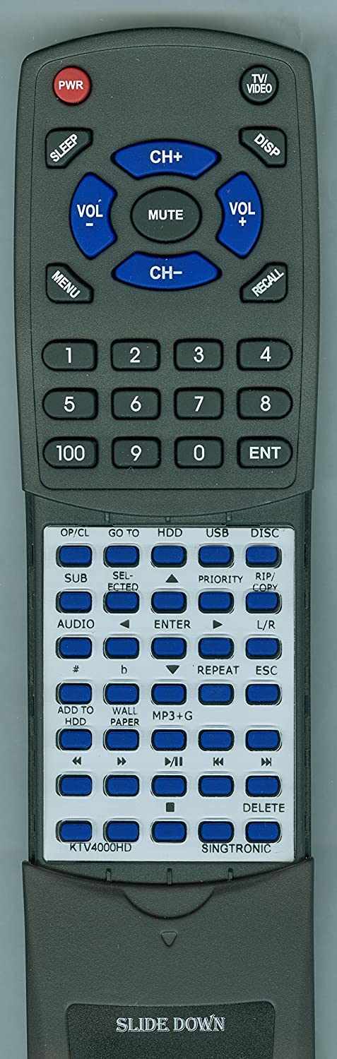 Replacement Remote for Singtronic KTV4000HD