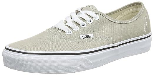 Vans Unisex Authentic Aluminum/True White Sneaker - 4