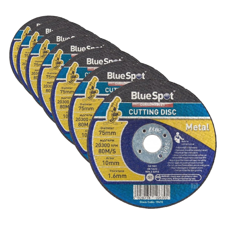 10 x Metal Air Cut Off Cutting Discs 75mm x 1.6mm x 10mm Thin 3' Slitting Disc Home.smart