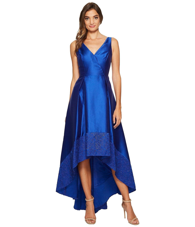 [アドリアナパペル] Adrianna Papell レディース Sleeveless Mikado High-Low Gown with Lace Border Hem ドレス [並行輸入品] B075JJVDW5 8|Deep Saphire Deep Saphire 8