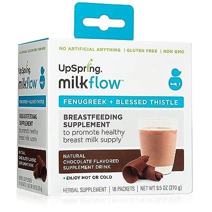 """UpSpring Baby Milkflowâ """"¢ alholva + mezcla de bebida de chocolate en polvo cardo bendito"""
