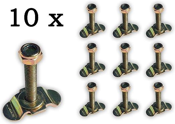 10 X Single Schraubfitting F Airlineschiene M8x45 500 Elektronik