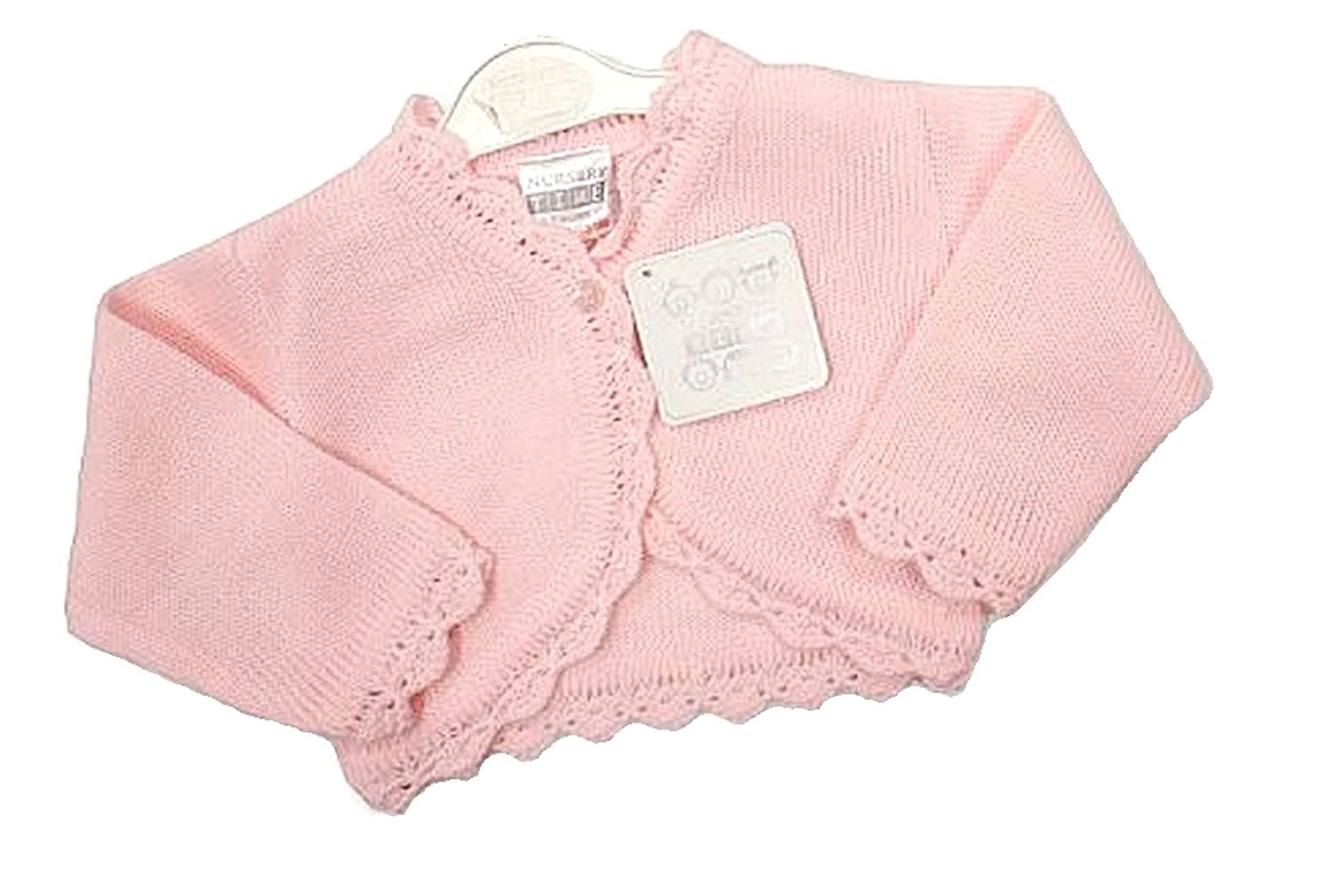 Baby Girl Pretty Trim Pink Cardigan/Shrug/Bolero (Newborn) 1015-500