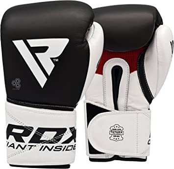 RDX Boxing Gloves Leather Punch Bag Muay Thai MMA Training Kickboxing Sparring R