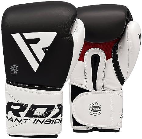 RDX Guantoni Boxe Ace Muay Thai Guanti da Sacco Sparring Allenamento  Kickboxing vera Pelle vacchetta Pugilato 750570ca5635