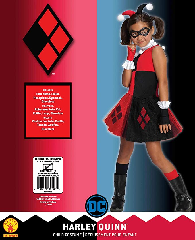 Amazon.com: DC Super villano Collection Harley Quinn disfraz ...