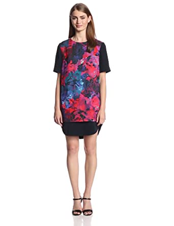findersKEEPERS Women's Back To Basics Dress, Rose Print Dark/Navy, X-Small
