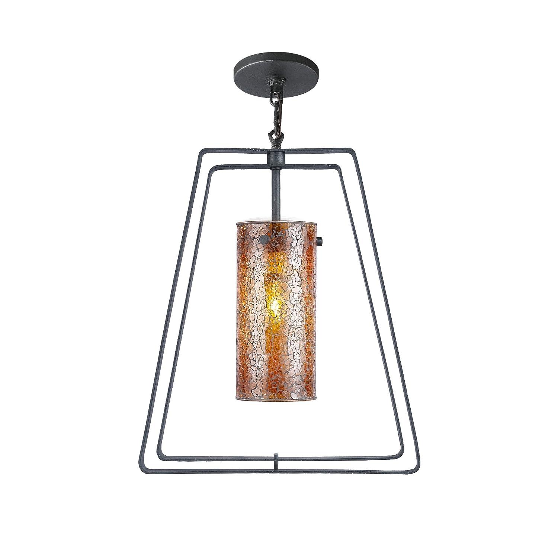 Woodbridge lighting 13123tbk m10amb twin 1 light mid pendant textured black ceiling pendant fixtures amazon com