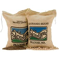 Garbanzo Beans • Paradina Lentils • Non-GMO Project Verified • 10 LBS • 100% Non-Irradiated • Certified Kosher Parve • USA Grown • Field Traced • Burlap Bag • (5 Pound, Pack of 2)