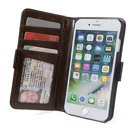 Amazon.com: RFID tipo portafolios para iPhone 7/6/6 + ...
