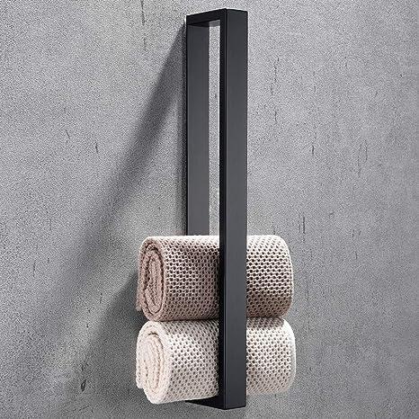 Celbon 40cm Handtuchhalter Ohne Bohren Badezimmer Handtuchhalter Selbstklebend Handtuchstange Badetuchhalter Gastehandtuchhalter Edelstahl Schwarz