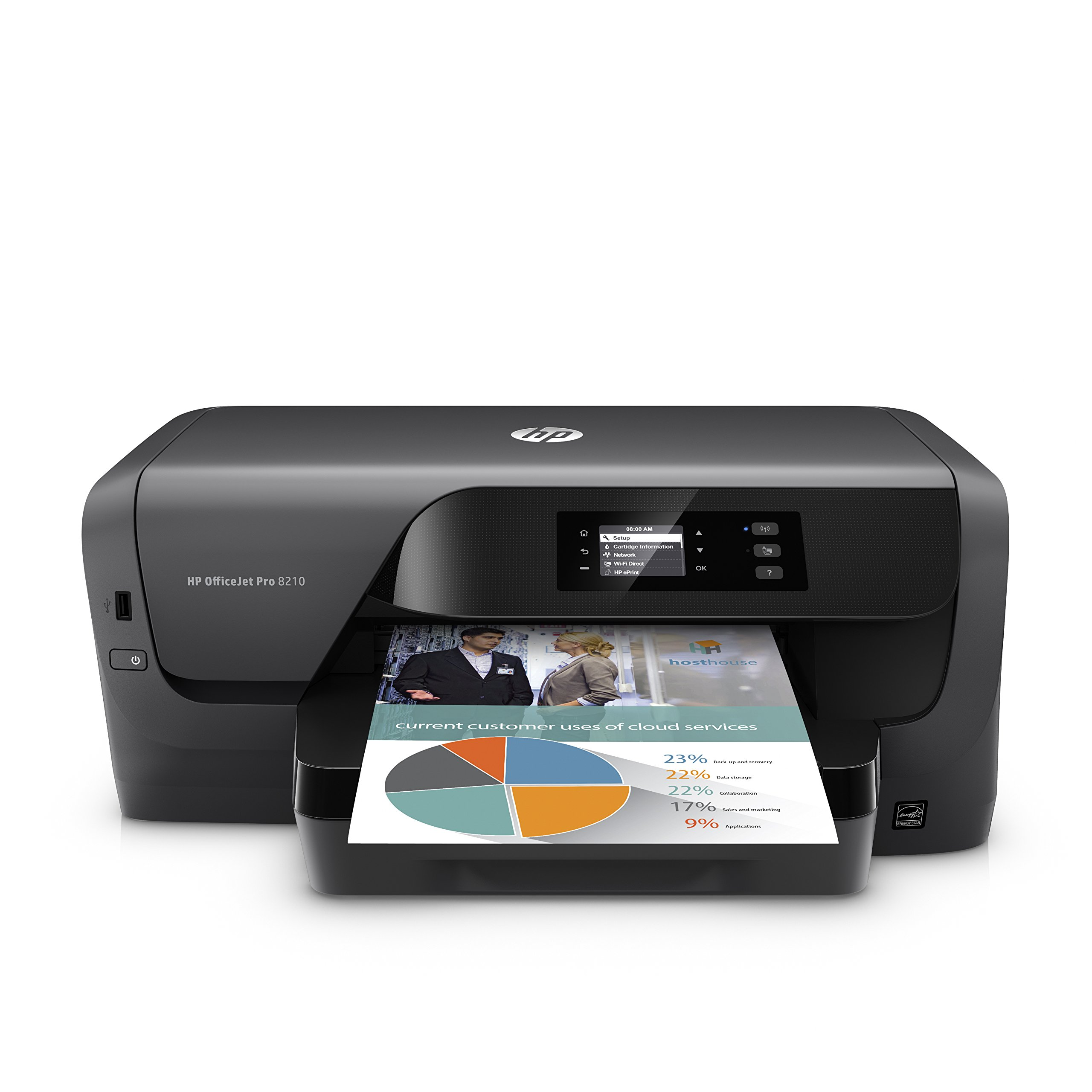 HP OfficeJet Pro 8210 Wireless Color Printer, HP Instant Ink & Amazon Dash Replenishment ready (D9L64A) by HP