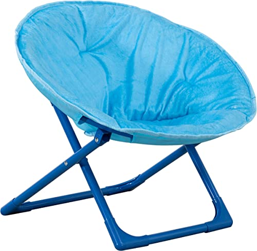 AmazonBasics Kids Folding Moon Indoor Papasan Chair for Toddlers