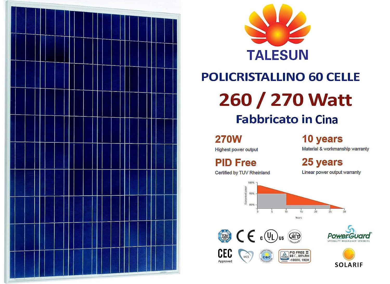 Pannello Fotovoltaico Policristallino TALESUN 270W 60 celle