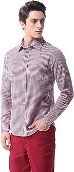 Camisa Algodón Slim Fit Manga Larga Cuadros Hombre P-13A(S, 10): Amazon.es: Ropa y accesorios