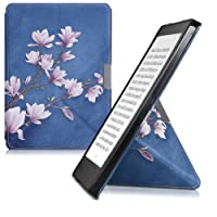 kwmobile Funda para Kobo Aura Edition 2 - Carcasa [magnética] con [Origami] de e-Reader - Case con diseño de Magnolias