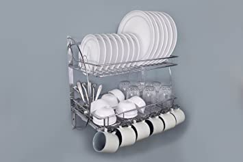 Lifetime Kitchen Rack Organiser With Removable Strong Plastic Drip Tray/  Dish Drainer/Corner Rack