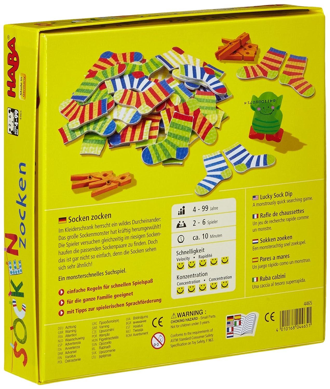 Spiele 4 Wäscheklammern zum Spiel Socken Zocken