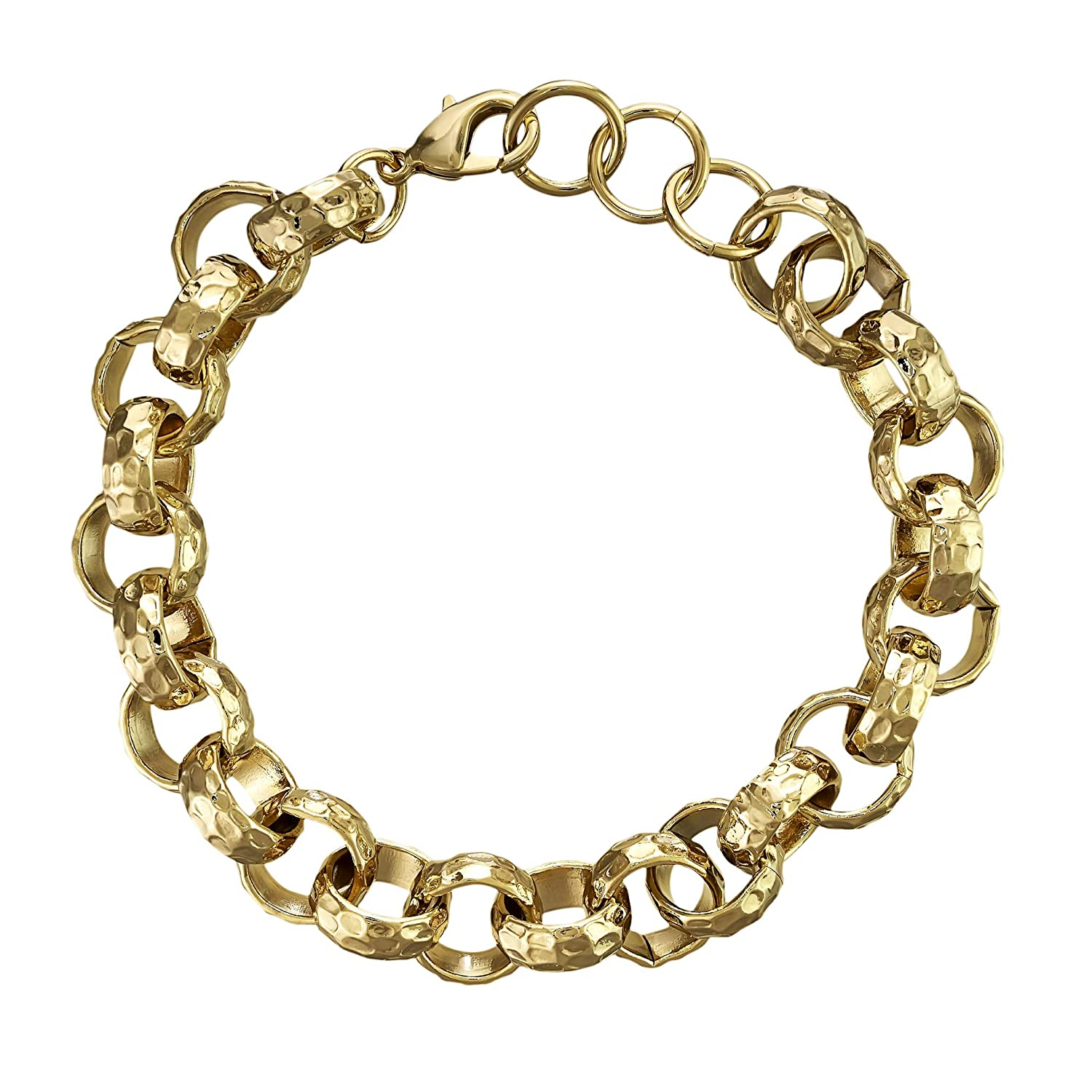 9ct YELLOW GOLD CHAIN END 7mm JEWELLERY MAKING