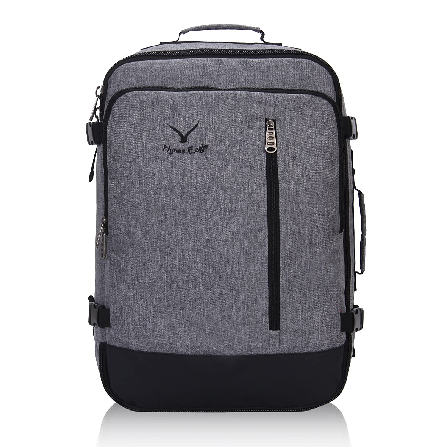 bf6a42f20357 Hynes Eagle 38L Flight Approved Weekender Carry on Backpack (BlackGrey)   Amazon.ca  Luggage   Bags
