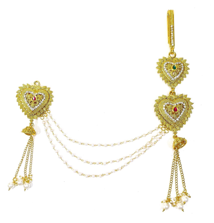 825123b54 Buy Lalso Multicolour Kundan Pearl Sareepin Brooch Juda Waist Belly Hip  Chain Belt Kamarband Keychain Ethnic Wedding Jewelry - LSPJ01_MG Online at  Low ...