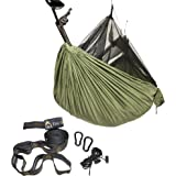 Eclypse II Camping Hammock Professional Grade Ripstop Nylon Strength - Ultra Light and Durable – Tree Friendly Straps and Bug Net For Backpacking, Hiking