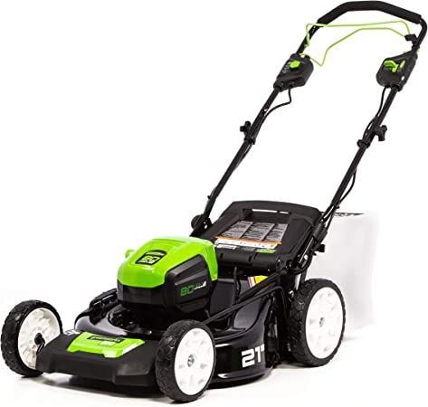 Greenworks PRO 21-Inch 80V Self-Propelled Cordless Lawn Mower, Battery and Charger Not Included
