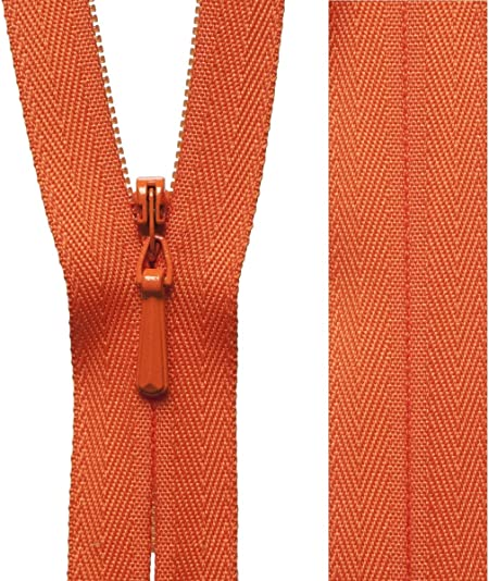 ORANGE YKK Closed End Nylon Zips Sewing Cushions upholstery Crafts  SUPER