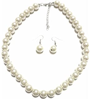 2d75d704be7f4 Amazon.com: BABEYOND Round Imitation Pearl Necklace Wedding Pearl ...