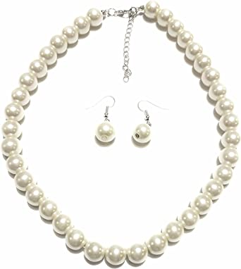 Faux Pearl Earring and Ring Set