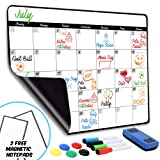 Monthly Magnetic Dry Erase Calendar - Large