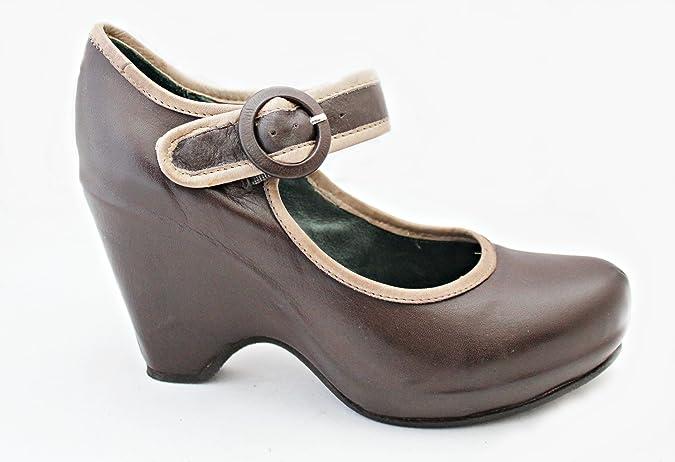 Zapato Merceditas de cuña 22141 virus marrón (39): Amazon.es: Zapatos y complementos