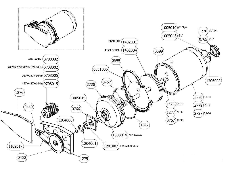 Motor 220V 60hz Spin Disc for Union, Realstar machines 0708005 #M11765..BM71S47001 #0708005