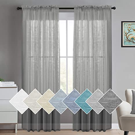 Linen Curtains Long Curtain Linen Curtain Panel Sheer Curtains Window Curtains Boho Curtain Panels Linen Drapes Burlap Curtains